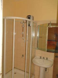 Bath room with Hot water shower and WC