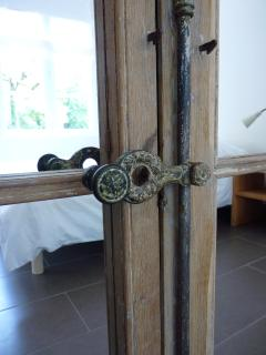Detail of bathroom door (refurbished 18th century door)