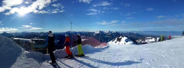 Top of Bernex Ski range