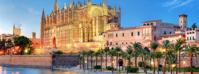 Palma de Mallorca with its magnificent Cathedral is only 20 minutes drive
