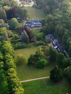 la propriété vue du ciel - silence, nature, espace en bord de Loire