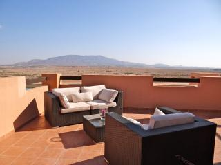 A large  terrace with a view, Alhama de Murcia