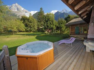 Stunning views from the hot tub in the private garden.