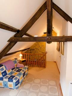 Lovely beams in the main bedroom