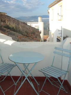 The 'Breakfast terrace' outside the bedroom