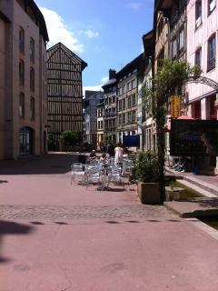 voie piétionne du Centre de Rouen