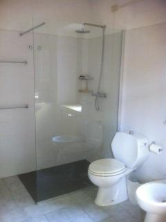 The bathroom with wet area shower