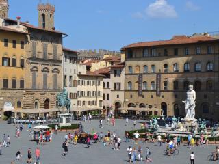 Spacious Florence studio overlooking Signoria Square, wifi access, Florencia
