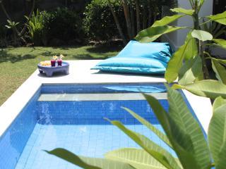 Villa 100 m2, 1 chambre, jardin luxuriant et piscine