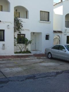 Front of Townhouse with Parking