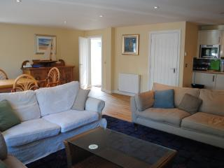 Comfortable seating including a sofa-bed should extra guests require it