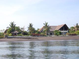 View of villa from the sea, quiet and peaceful location