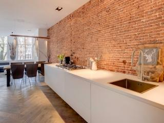 Luxury kitchen with old brickwall