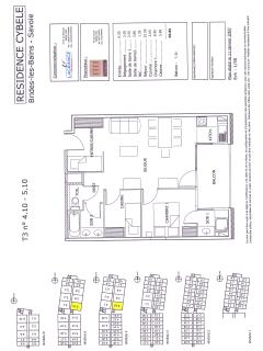 Floor and Building plan for apartment 5.10