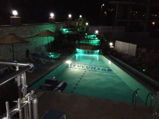 Night time pool lighting