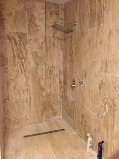 Large walk in shower room