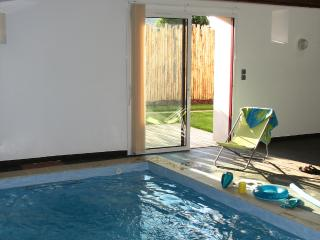 private indoor heated pool (relaxation area 56 m²): hydro massage, swimming against the current