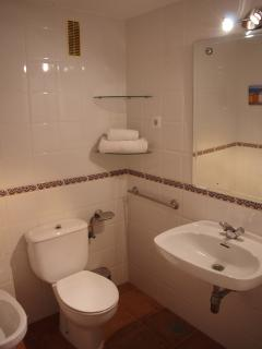 Main Bathroom complete with Bath and Wall mounted/Hand held shower