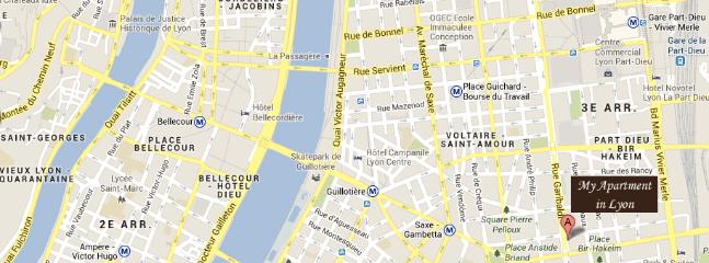A perfect location 10 mm from everything: Bellecour Lyon city center, Part-Dieu shops & transpor