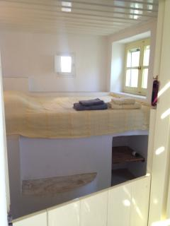 One of the four double-bed en-suite rooms.