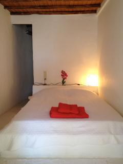 One of the four double-bed rooms.