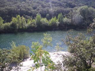 Hérault river for canoeing, fishing, swimming, sunbathing