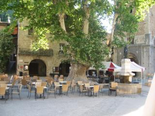 Village place with many shops and restaurants (500 m)