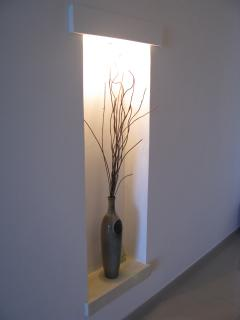 Modern feature in the corridor