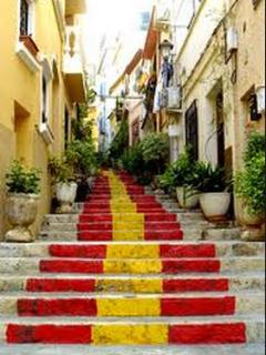 Steps to the beautiful old town