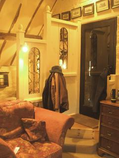 Lovely guest's photo of entrance to Hayloft. Bed is behind divider.