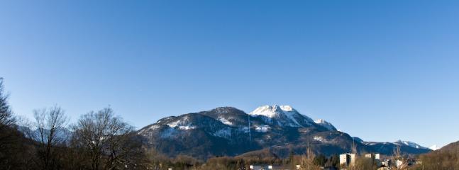 View from balcony towards 'Katrin' mountain