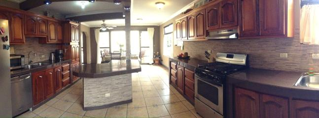 Kitchen - Panoramic view - 2 sinks, double door fridge w/filtered water & ice maker & Dishwasher