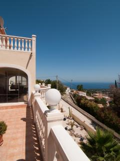 Pool terrace, balcony, Moraira seaview