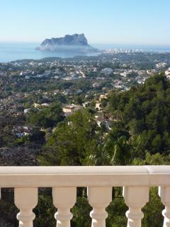 Panoramic view of Calpe and Penon d´Ifach