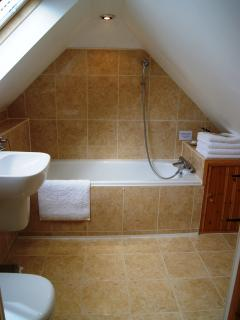 The ensuite bathroom.