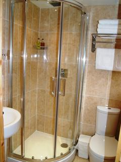 The downstairs shower room.