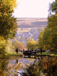 There is a wonderful walk along the canal to Marsden - and you can take the train back if you like