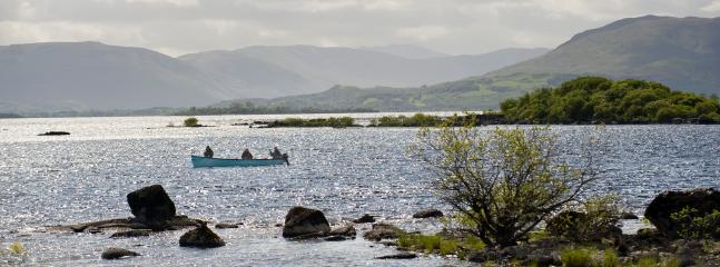 A beautiful days fishing in Caher Bay one of the best bays  on Lough Mask where the fish rise freely