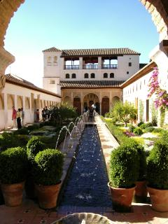 The histroic Alhambra Palace in Granada, a short train, bus or car ride away