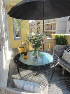 Terrace - lovely to relax with a glass of wine!