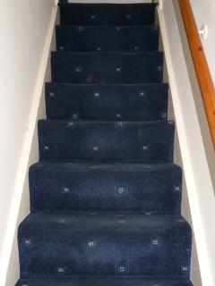 Stairs are fairly steep in this house