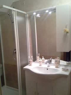 Bagno della suit Elisabetta curato nei minnimi dettagli per un soggiorno piacevole e rilassante