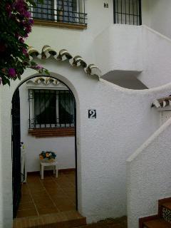 Apartment entrance & patio