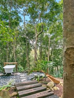 Bathing in the rainforest