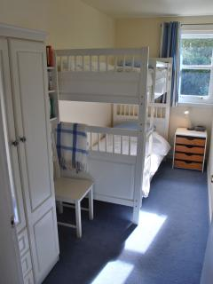 bunk bedroom, ideal for teenagers or children, but big enough for adults too.