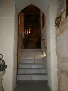 And so to bed up the stone staircase