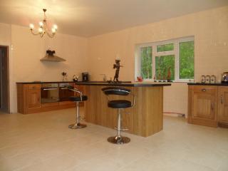 huge open plan kitchen area