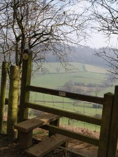 Longdown Hill on the beautiful Cotswold Way which runs close to Onespringbank.