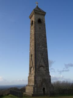 Tyndale's Monument near Wotton under Edge,with spectular views over the Severn Valley.l