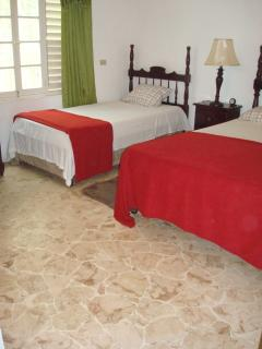 Bedroom #6, one queen bed and one twin bed